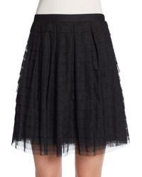 BCBGMAXAZRIA Tiered Tulle Skirt - Lyst