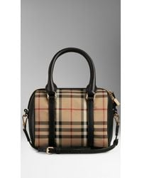 Burberry The Small Alchester In Horseferry Check - Lyst