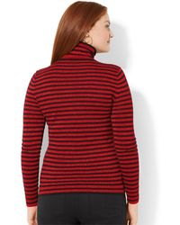 Lauren by Ralph Lauren - Plus Size Metallic-Striped Turtleneck Sweater - Lyst
