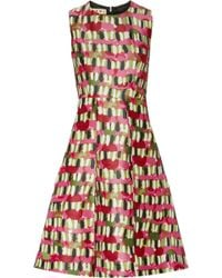 Marni Printed Wool and Silk-blend Dress - Lyst