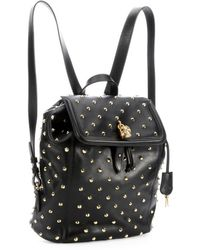 Alexander McQueen Black Leather Studded Backpack - Lyst