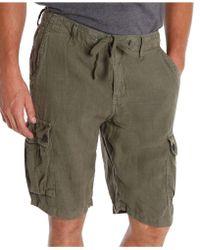 Lucky Brand Slub Cargo Shorts - Lyst
