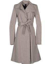 Gareth Pugh Full-Length Jacket gray - Lyst