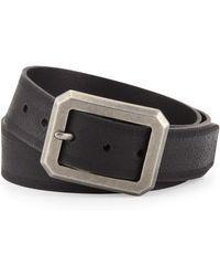 John Varvatos Jv Burnished Leather 32mm Harness Belt - Lyst