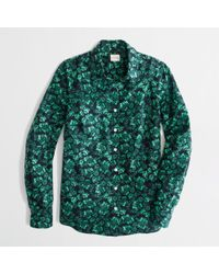 J.Crew Classic Button Down Shirt in Printed Cotton - Lyst