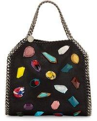 Stella McCartney Falabella Stone Embellishment Mini Bag - Lyst