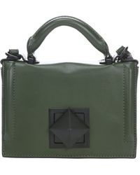 L.a.m.b. Army Green Leather Elga Mini Shoulder Bag - Lyst
