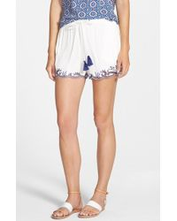 Ella Moss | Rica Embroidered Shorts | Lyst