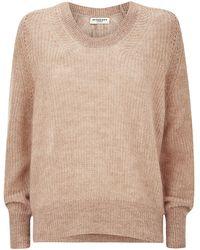 Burberry London Mohair Blend Scoop Neck Sweater - Lyst