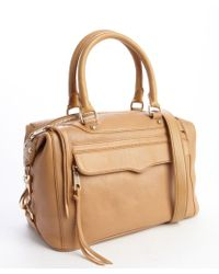 Rebecca Minkoff Tan Leather Mab Mini Convertible Top Handle Bag - Lyst