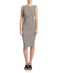 Max Mara Navata Cheetah-Print Dress - Lyst