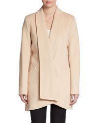 Calvin Klein Front Drape Wool-blend Coat - Lyst