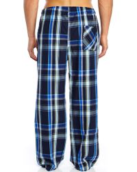 Kenneth Cole Reaction Navy & Blue Plaid Woven Pajama Pants - Lyst