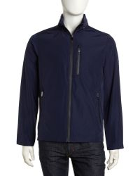 Tumi - Ttech Hooded Water Resistant Jacket Midnight Blue - Lyst