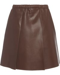 Bally - A Line Leather Skirt - Lyst