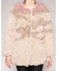 Pixie Market Bowery Faux Fur Coat - Lyst