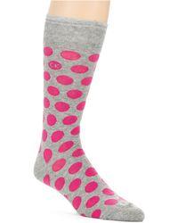 Calvin Klein Big Dot Socks - Lyst