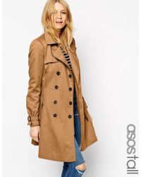 Asos Tall Trench With Biker Detail In Skater Fit - Lyst