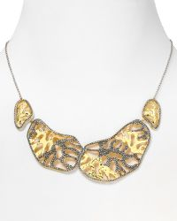 Judith Jack - 14kt Gold Plated Sterling Silver Marcasite Reef Stone Collar Necklace 16 - Lyst