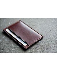 Kaufmann Mercantile Handmade Leather Mini Card Wallet brown - Lyst