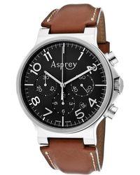 Asprey - No8 Mens Black Dial Automatic Chronometer Watch with Chronograph Date Aspreybr Watch - Lyst