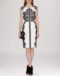 Karen Millen Dress - Graphic Placed Lace Embroidered Collection - Lyst