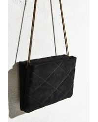 Kimchi Blue - Quilted Suede Clutch Bag - Lyst