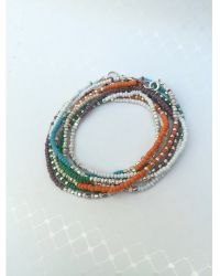 Botticelli's Niece - Sterling And Leaf Double Wrap Bracelet - Lyst