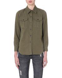 Etoile Isabel Marant Wigston Cottonblend Shirt Beige - Lyst