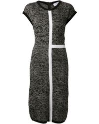 Thom Browne Fitted Knit Dress - Lyst