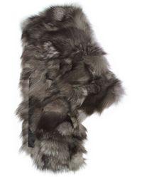 Michael Kors Shredded Fox Fur Scarf - Lyst
