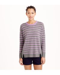 J.Crew Collection Cashmere Side-Panel Sweater In Stripe - Lyst