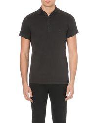 Diesel T-etienne Cotton-jersey Polo Shirt Black - Lyst