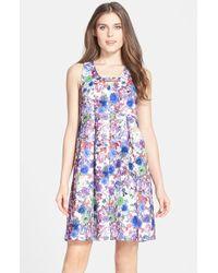 Darling - 'florence' Print Jacquard Babydoll Dress - Lyst
