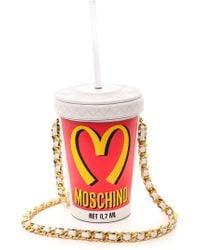 Moschino Fountain Soda Bag - White - Lyst
