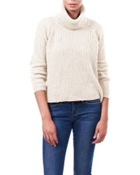 William Rast Chunky Cropped Turtleneck Top - Lyst