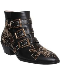 Chloé Leather Susanna Ankle Boot With Studs - Lyst