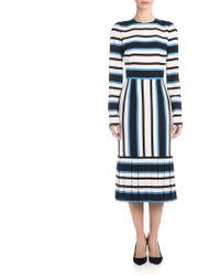 Dolce & Gabbana | Striped Charmeuse Dress | Lyst