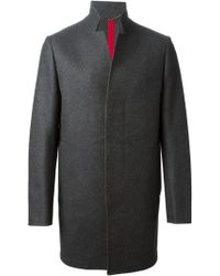 Valentino Stand Up Collar Coat - Lyst