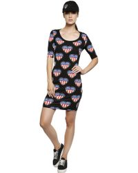 Love Moschino Heart Printed Cotton Jersey Dress - Lyst