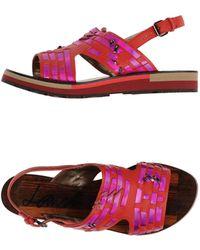Lanvin Sandals brown - Lyst