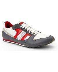 Diesel Charcoal & White Gunner Sneakers - Lyst