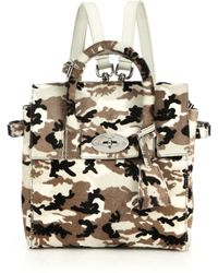 Mulberry Cara Delevingne Mini Convertible Camouflage Calf Hair Satchel - Lyst