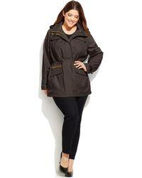 Michael Kors Michael Plus Size Hooded Anorak Jacket - Lyst
