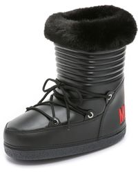 Boutique Moschino | Love Moschino Moon Boots - Black | Lyst