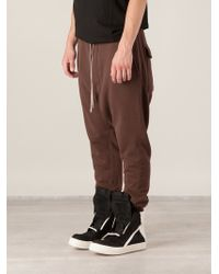 DRKSHDW by Rick Owens Drop Crotch Trousers - Lyst