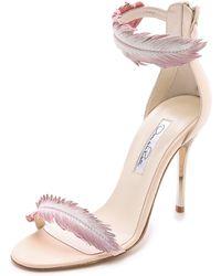 Oscar de la Renta Aubree Heeled Sandals - Petal - Lyst