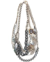 Subversive Jewelry - Greyscale Multistrand Necklace - Lyst