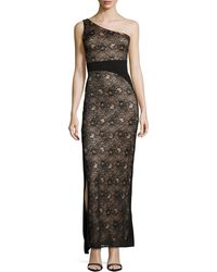 Laundry By Shelli Segal Oneshoulder Lace Gown - Lyst
