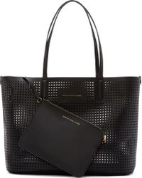 Marc By Marc Jacobs Black Perforated Metropolitote Bag - Lyst